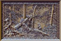 Резные картины из дерева, настенные 3D панно